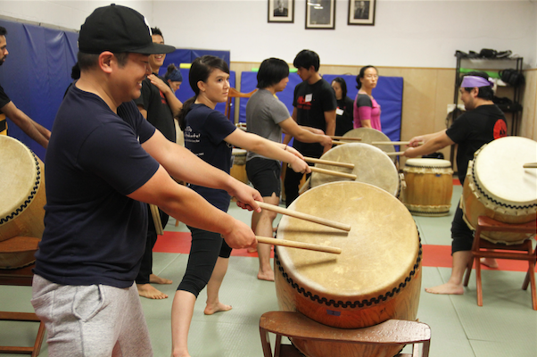 Workshop participants at the Soh Daiko workshop!