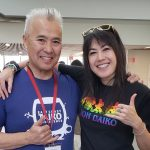 Soh Daiko member with workshop leader Kenny Endo