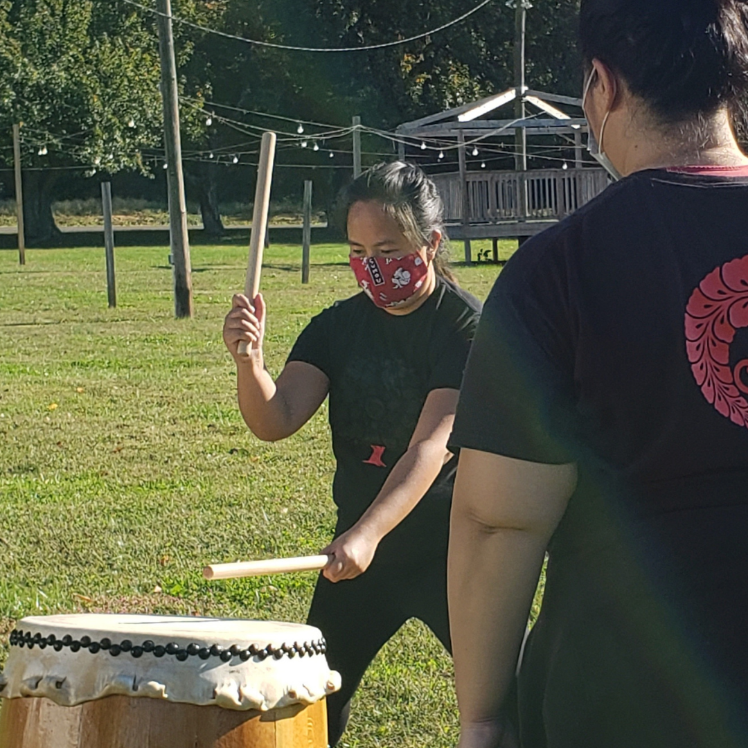 Keiko at an outdoor rehearsal in Seabrook, NJ.