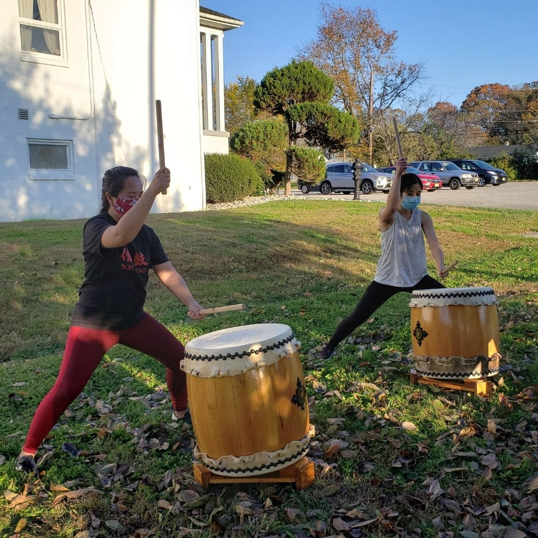 Keiko and Jennifer at an outdoor rehearsal in Seabrook, NJ.
